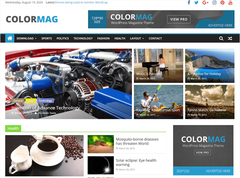 ColorMag Theme Demo