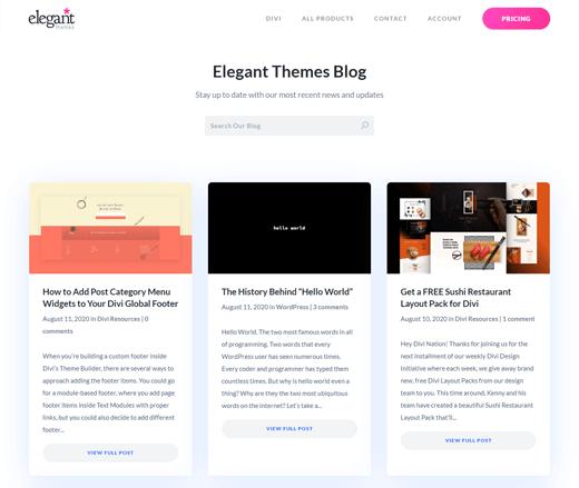 Elegant Themes Top WordPress Blog