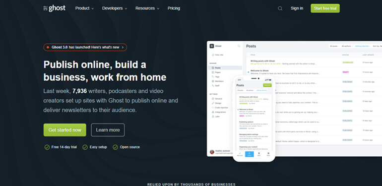 ghost-wordpress-alternative-cms