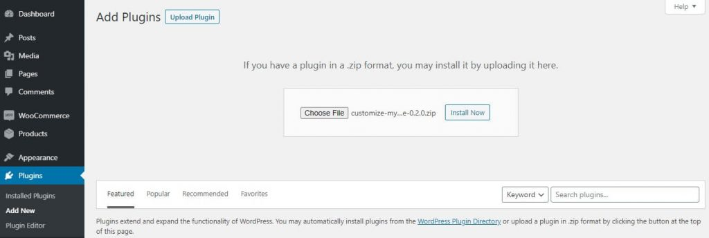 upload-plugin-customize-my-account-page-for-woocommerce-modify-woocommerce-my-account-page