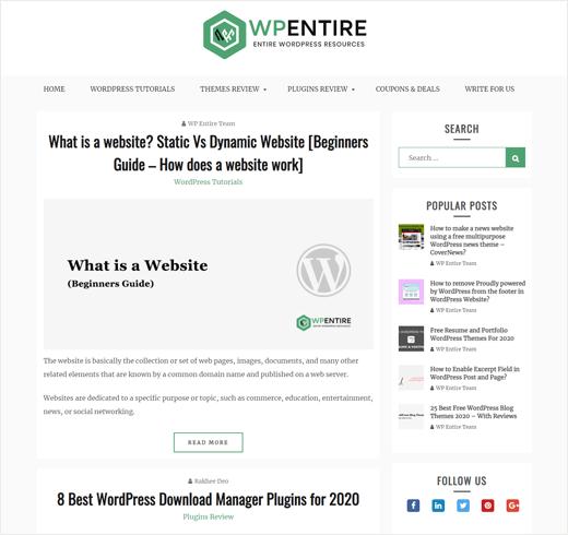 WPEntire Blog