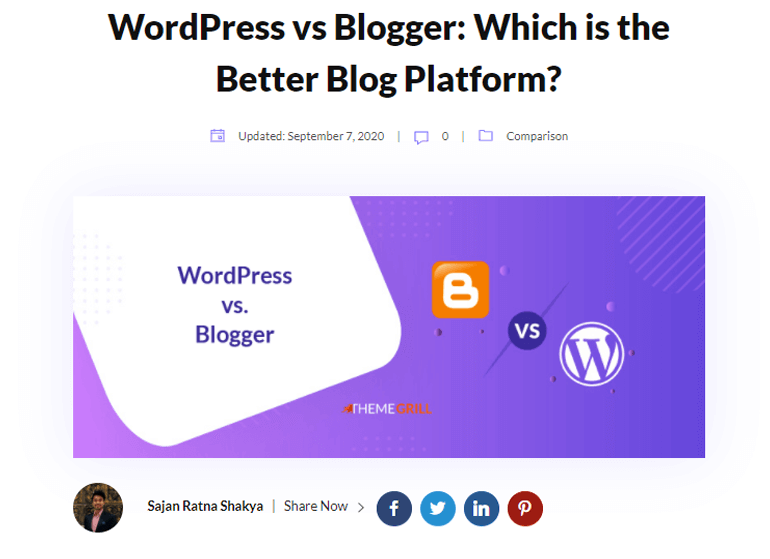 post example WordPress Pages vs Posts