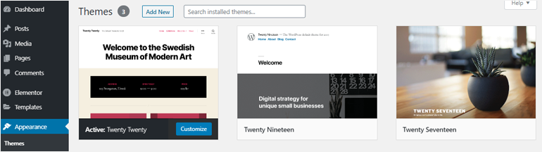 Default WordPress Themes how to add a theme in wordpress