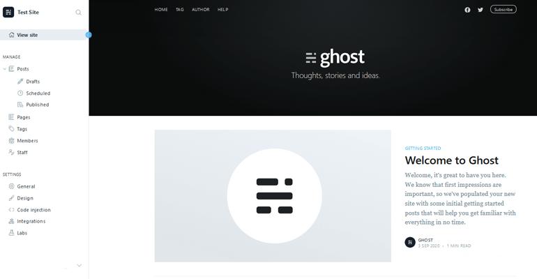 Ghost Dashboard