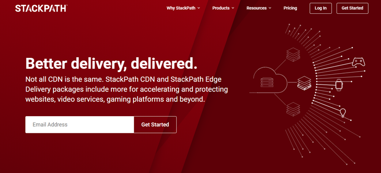 Stackpath Homepage