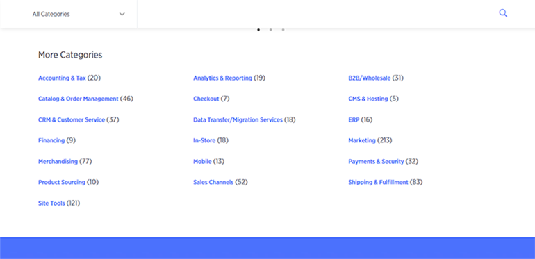 BigCommerce App Categories