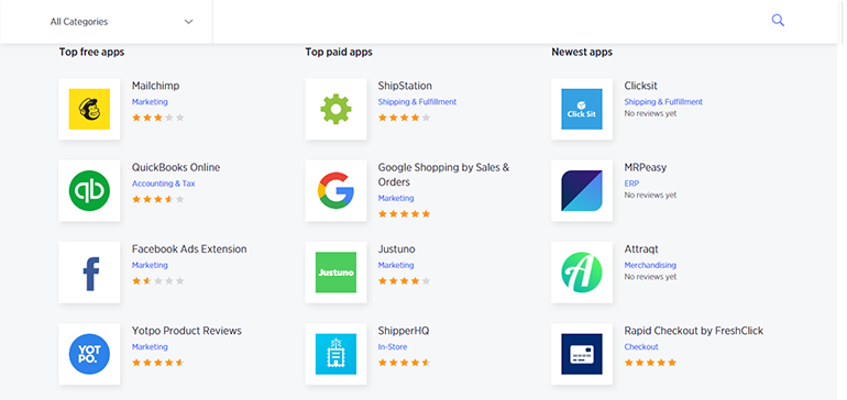 BigCommerce Free and Paid Apps