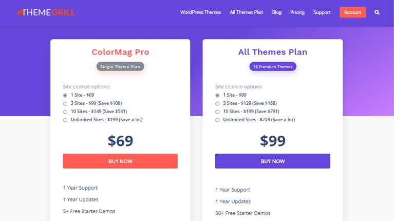 ColorMag Theme Pricing