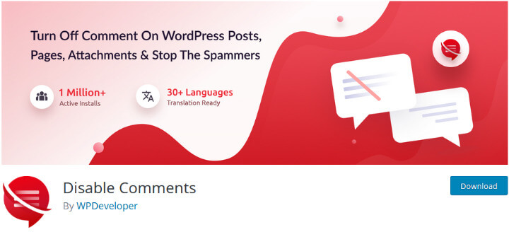 disable comments best free wordpress plugins