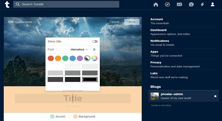 Customizing Elements on Tumblr