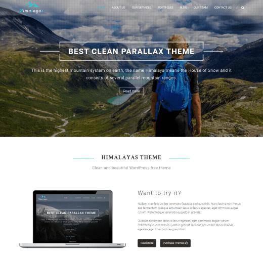 Himalayas best free WordPress landing page themes
