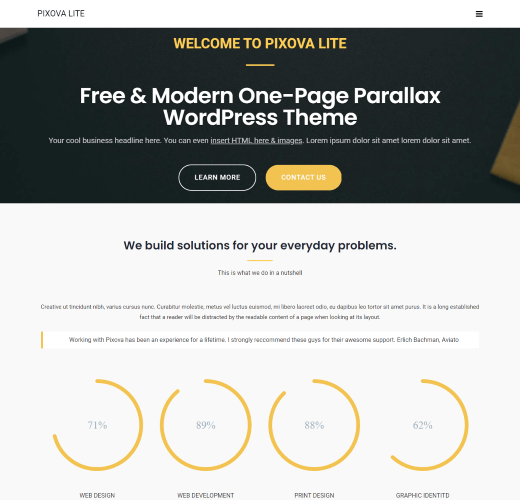 Pixova Lite free landing page