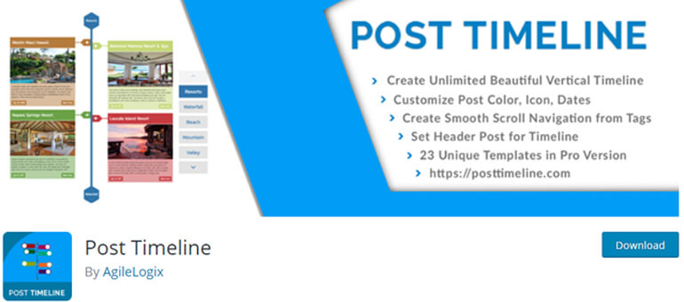 post timeline wordpress timeline plugins