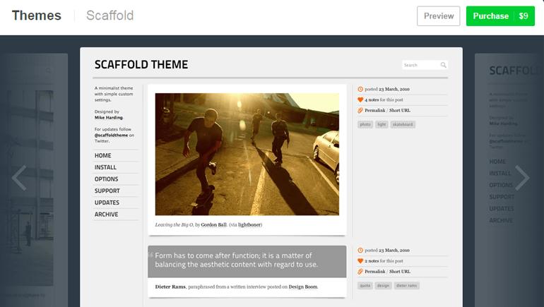 Scaffold Theme Demo for Tumblr