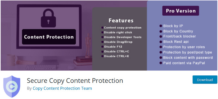 secure copy content protect best wordpress plugin