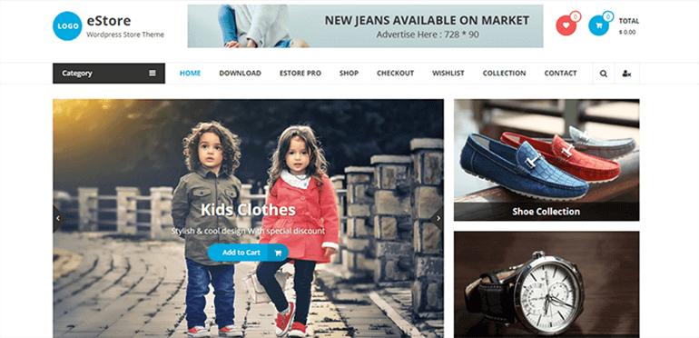 eStore Theme- WooCommerce