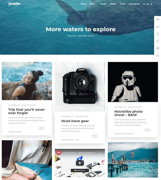 Jevelin WordPress Theme for Lifestyle Blogs