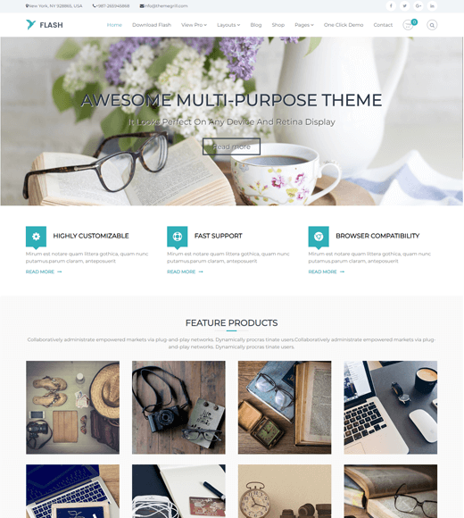 Flash-WordPress Themes for Lifestyle Bloggers