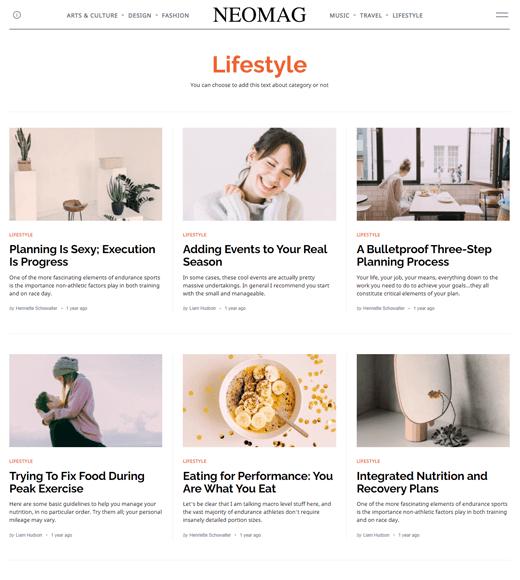 NeoMag-WordPress Lifestyle Blog Themes