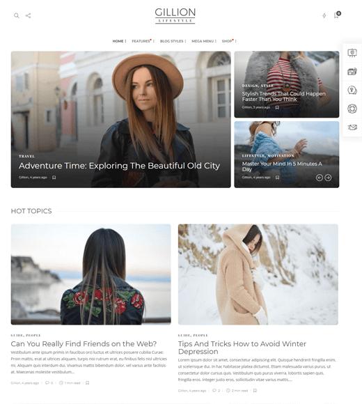 Gillion Fashion Lifestyle WordPress Theme