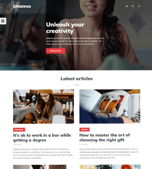 Johannes WordPress Theme for Lifestyle Blogs