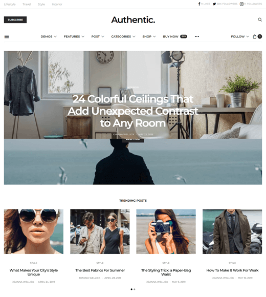Authentic-Lifestyle-Blog-Theme