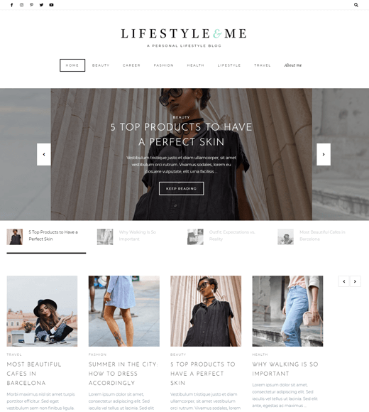 8.-Lifestyle-by Artisan Theme for Lifestyle Blogs