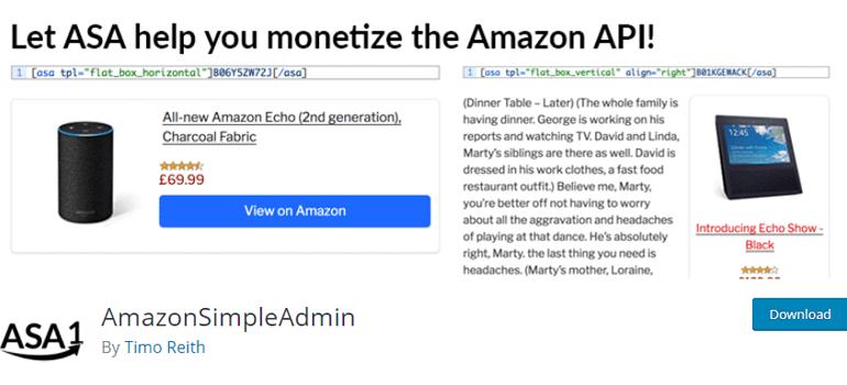 ASA Amazon Affiliate Plugin for WordPress