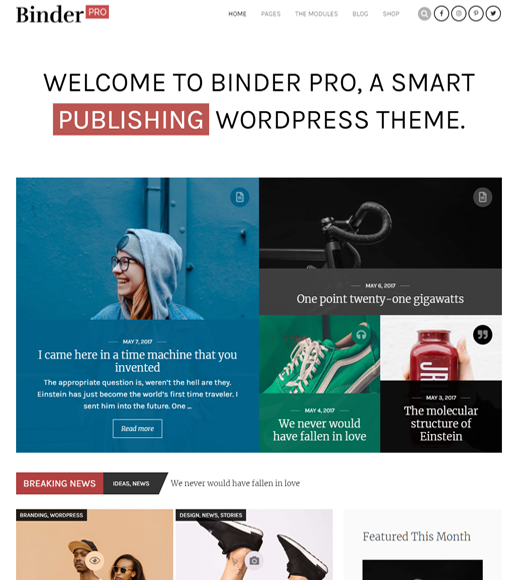 BinderPro Affiliate Marketing Publishing-thema