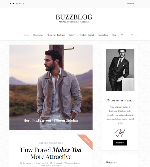 BuzzBlog Affiliate Marketing Blog and Magazine Theme