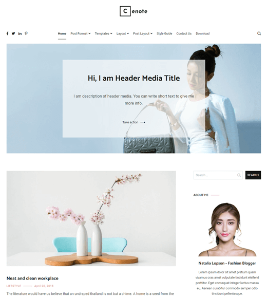 Cenote  Affiliate Marketing Blog Theme