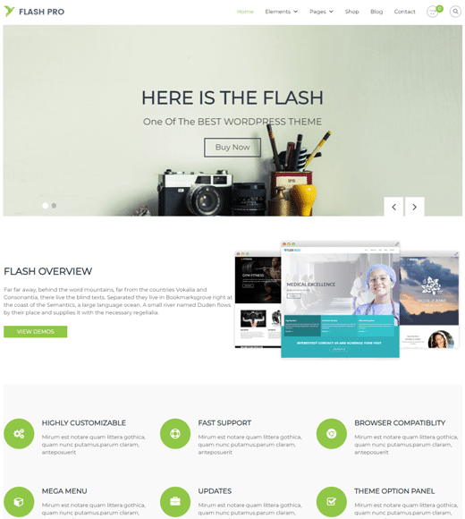 Flash multifunctioneel thema
