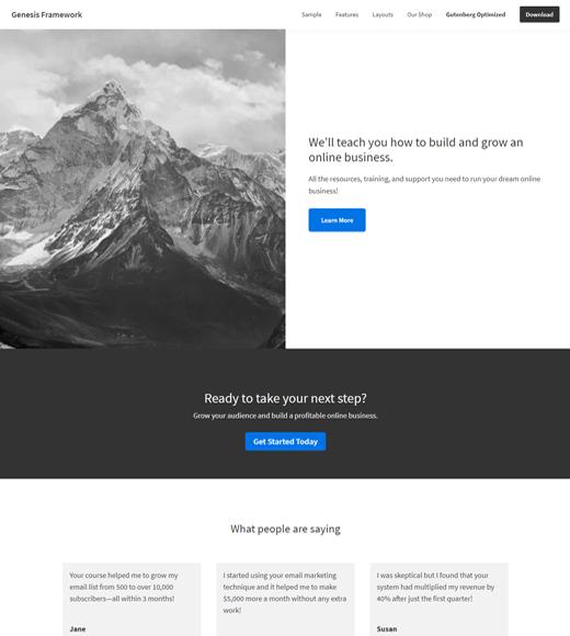 Genesis Framework Demo Page