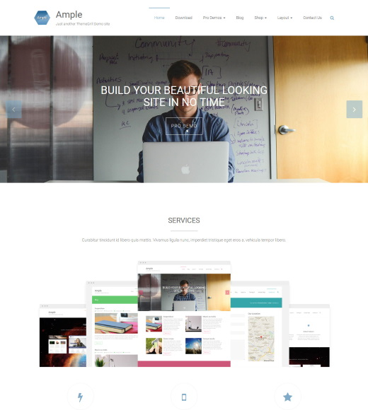 ample best free responsive themes with slider