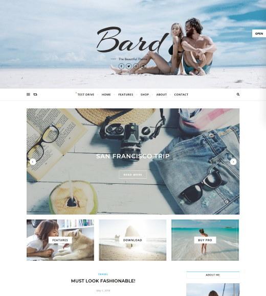 bard free wordpress theme