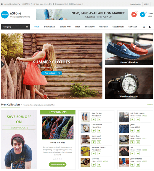 eStore Affiliate Marketing  Online store Theme