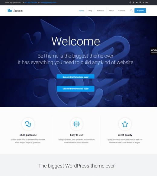 BeTheme Best WordPress Theme Ever