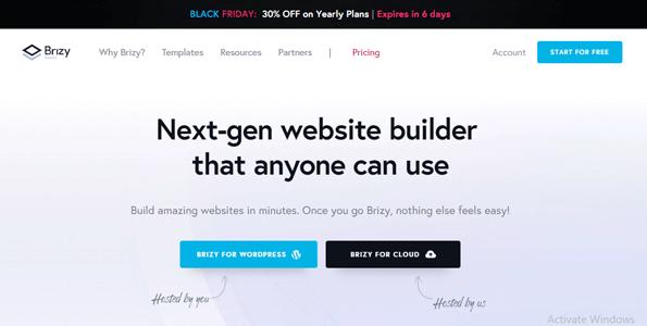 Brizy Builder Black Friday Cyber Monday WordPress Deals