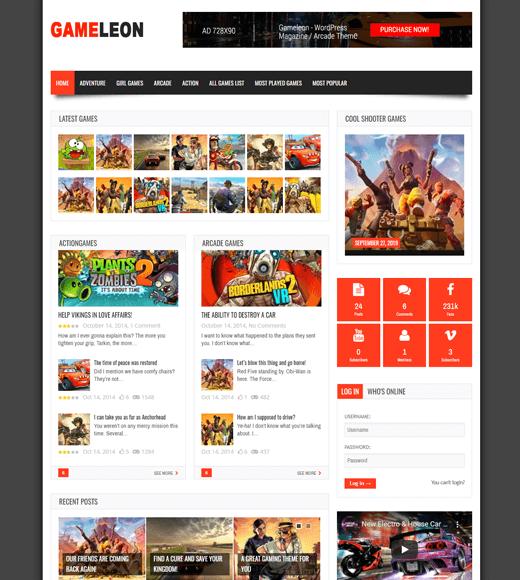 Gameleon WordPress Theme