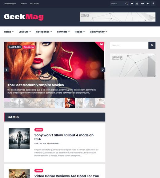 GeekMag WordPress Gaming Theme
