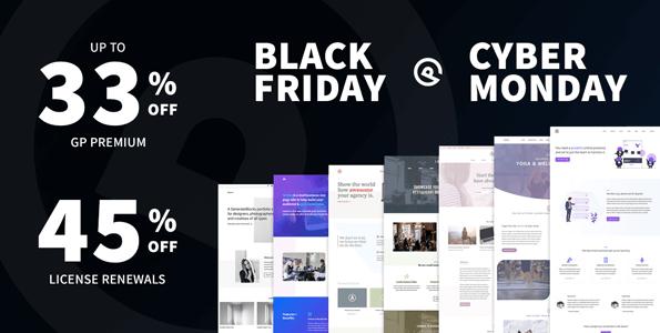 GeneratePress WordPress Black Friday