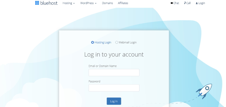 login bluehost