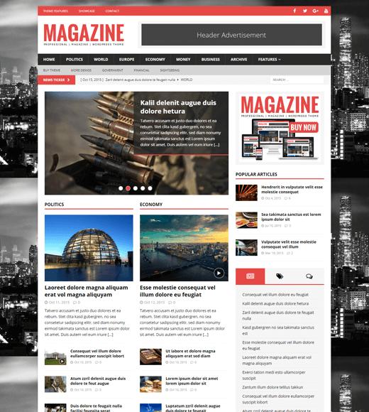 MH Magazine Miglior tema WordPress