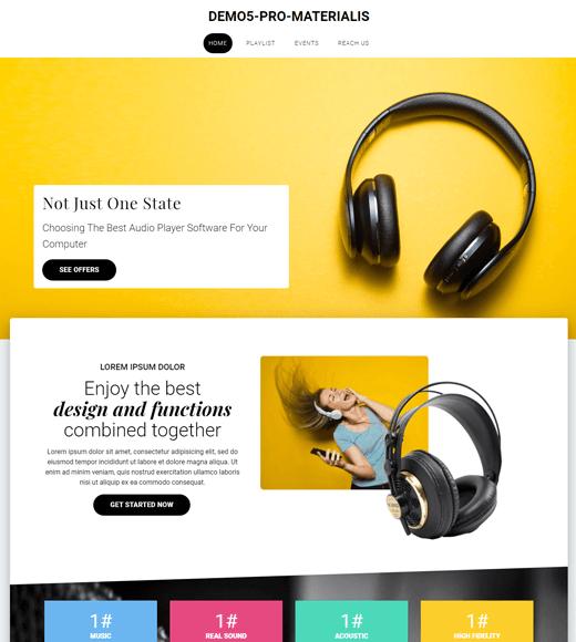 Materialis Best WordPress Theme