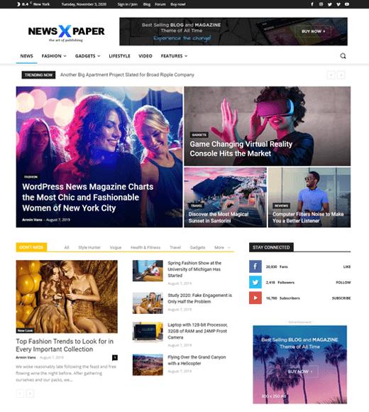 NewsPaper Miglior tema WordPress