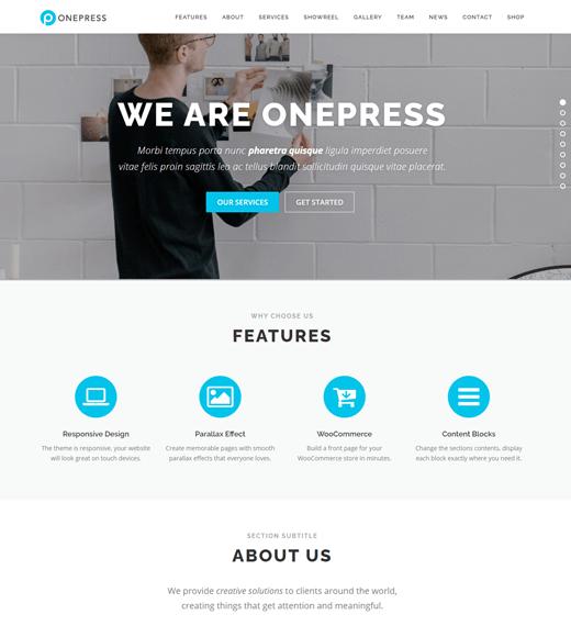OnePress Theme Demo