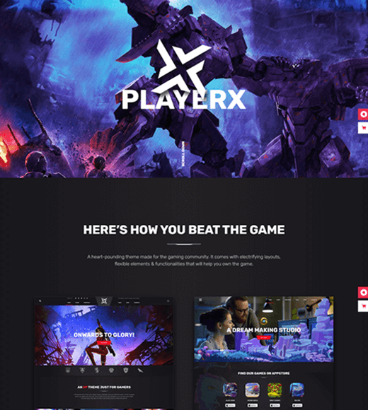 PlayerX Theme Demo