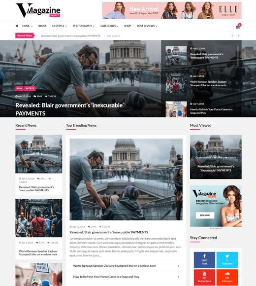 VMagazine Miglior tema WordPress