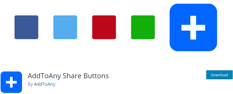 Complemento de WordPress AddtoAny Share Button