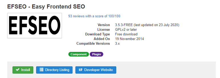 Easy Frontend SEO for Joomla